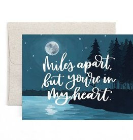 One Canoe Two Miles Apart Moon Card