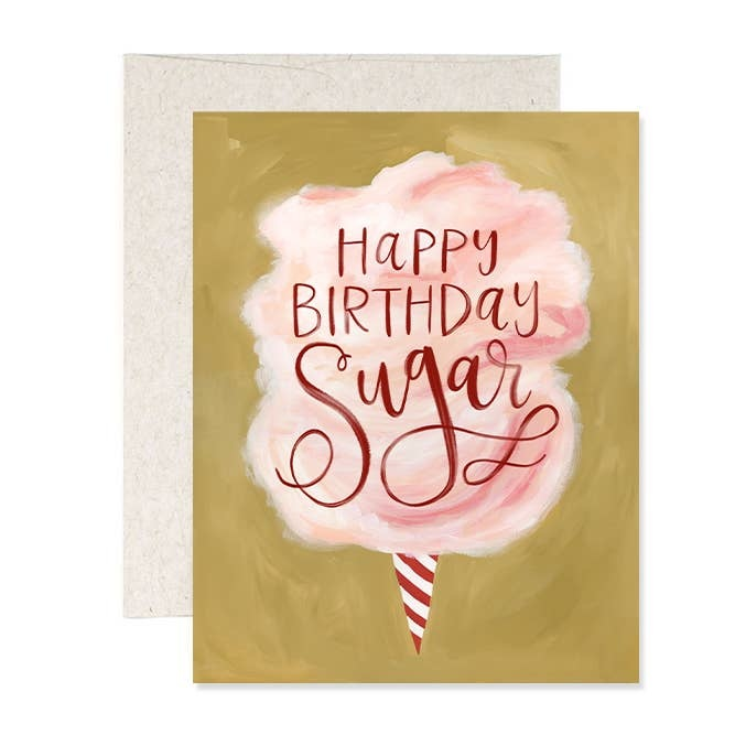 One Canoe Two Cotton Candy Birthday Card