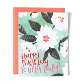 One Canoe Two Lovely Floral Card