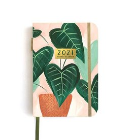 One Canoe Two 2021 Petite Green Leaf Weekly Planner