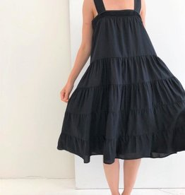 A Mente Strap Tiered Tencel Midi Dress