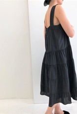A Mente Strap Tiered Tencel Midi Dress