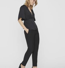 Vero Moda Black Liva V Neck Top