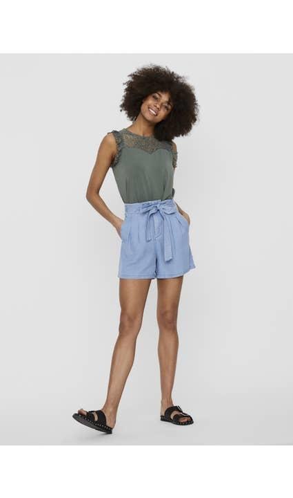 Vero Moda Light Blue Mia Loose Summer Shorts