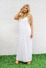 Peace Love Cake White Khloe Maxi Dress