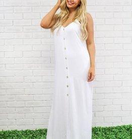 Peace Love Cake White Khloe Maxi Dress