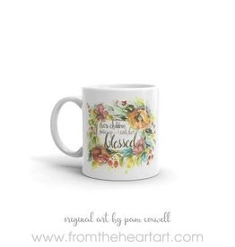 From The Heart Art Her Children Ceramic Mug