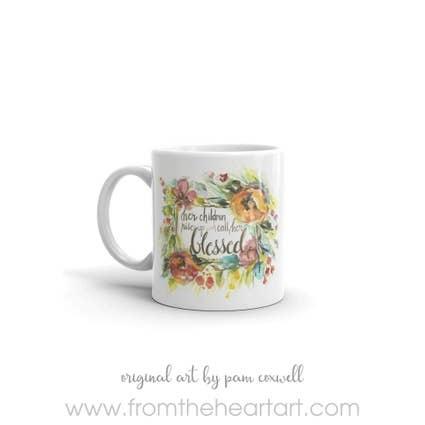 From The Heart Art Her Children Ceramic Mug