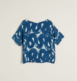 Nancybird Navy Swirl Dolman Top