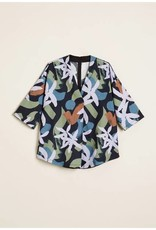 Nancybird Abstract Floral Shawl Top