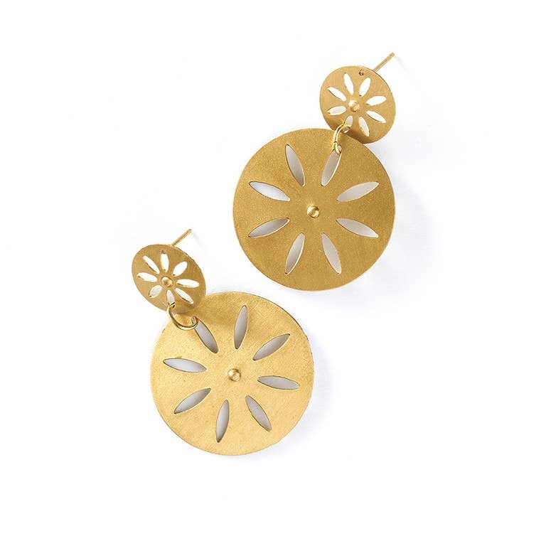 Matr Boomie Chameli Earrings Petal Coin