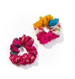 Matr Boomie Upcycled Sari Scrunchie - Set of 2