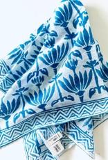 By the Sea Organics Blue Lotus Print Handmade Bandana
