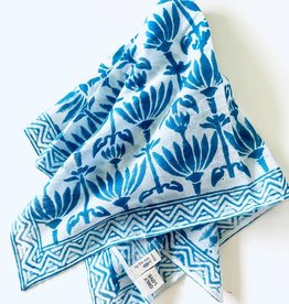 By the Sea Organics Blue Lotus Print Handmade Bandana