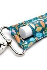 LippyClip Teal Fall Leaves Lip Balm Holder