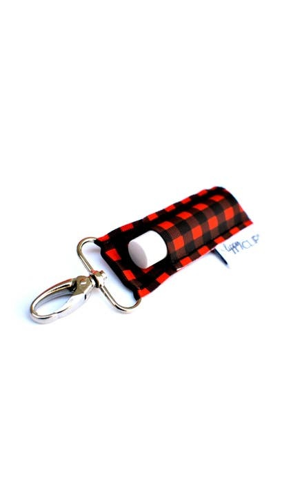 LippyClip Buffalo Plaid Lip Balm Holder