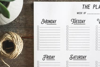 The Anastasia Co Weekly Planner Notepad
