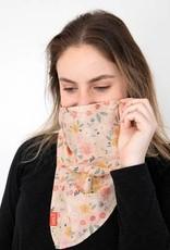 Saachi Blush Floral Bandana with Filter