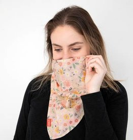 Saachi Blush Floral Bandana with Filter