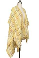 Saachi Reverie Yellow Plaid Kimono