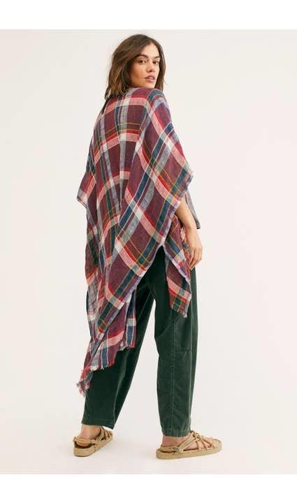 Saachi Reverie Red Plaid Kimono