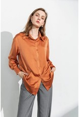 J.Ing Business Essential Rust Silky Blouse