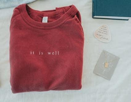 Dear Heart Designs It Is Well Pullover
