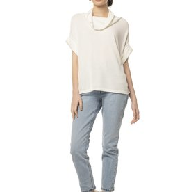 Synergy Winter White Waffle Knit Top