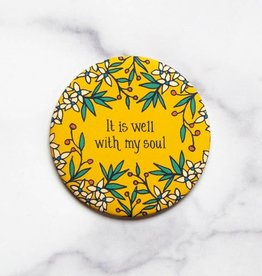 Little Things Studio It Is Well Round Magnet