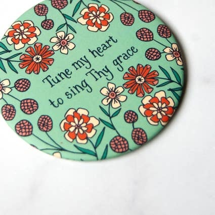 Little Things Studio Tune My Heart Round Magnet