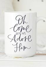Sweet Mint Handmade Goods O Come Let Us Adore Him Mug
