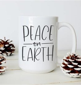 Sweet Mint Handmade Goods Peace on Earth Mug