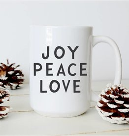 Sweet Mint Handmade Goods Joy Peace Love Mug