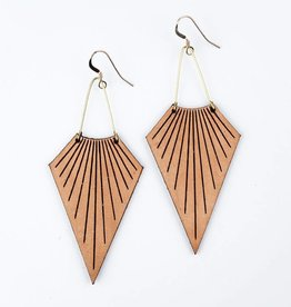 Freshwater Design Co. Seashell Leather Earrings