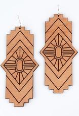 Freshwater Design Co. Mesa Leather Earrings