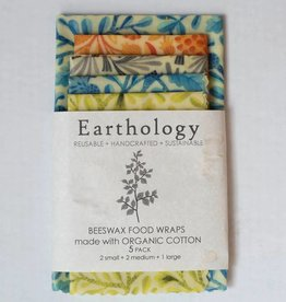 Earthology 5 Pack Beeswax Wraps