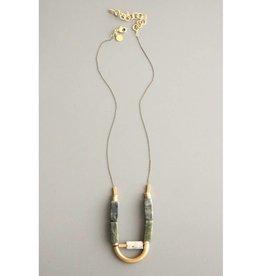 David Aubrey Jewelry Half Moon Agate & Jasper Necklace