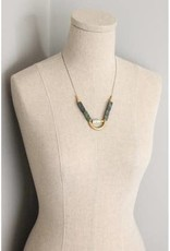 David Aubrey Jewelry Half Moon Agate & Jasper Necklace