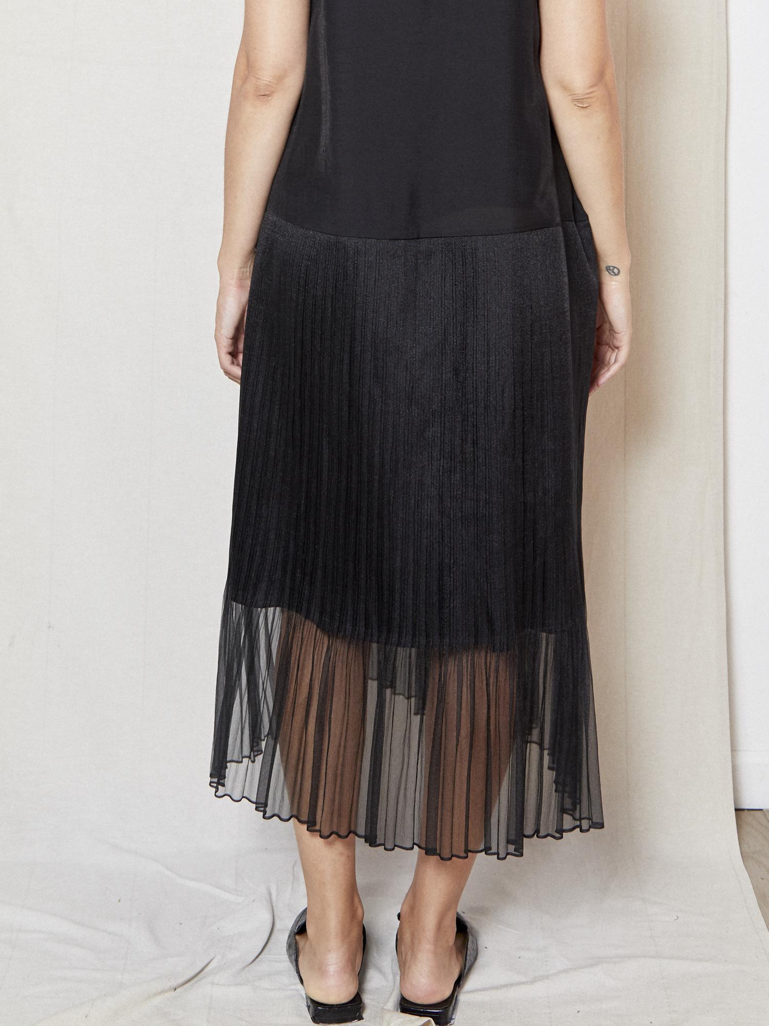 d.r concept Effortless Black Tulle Dress