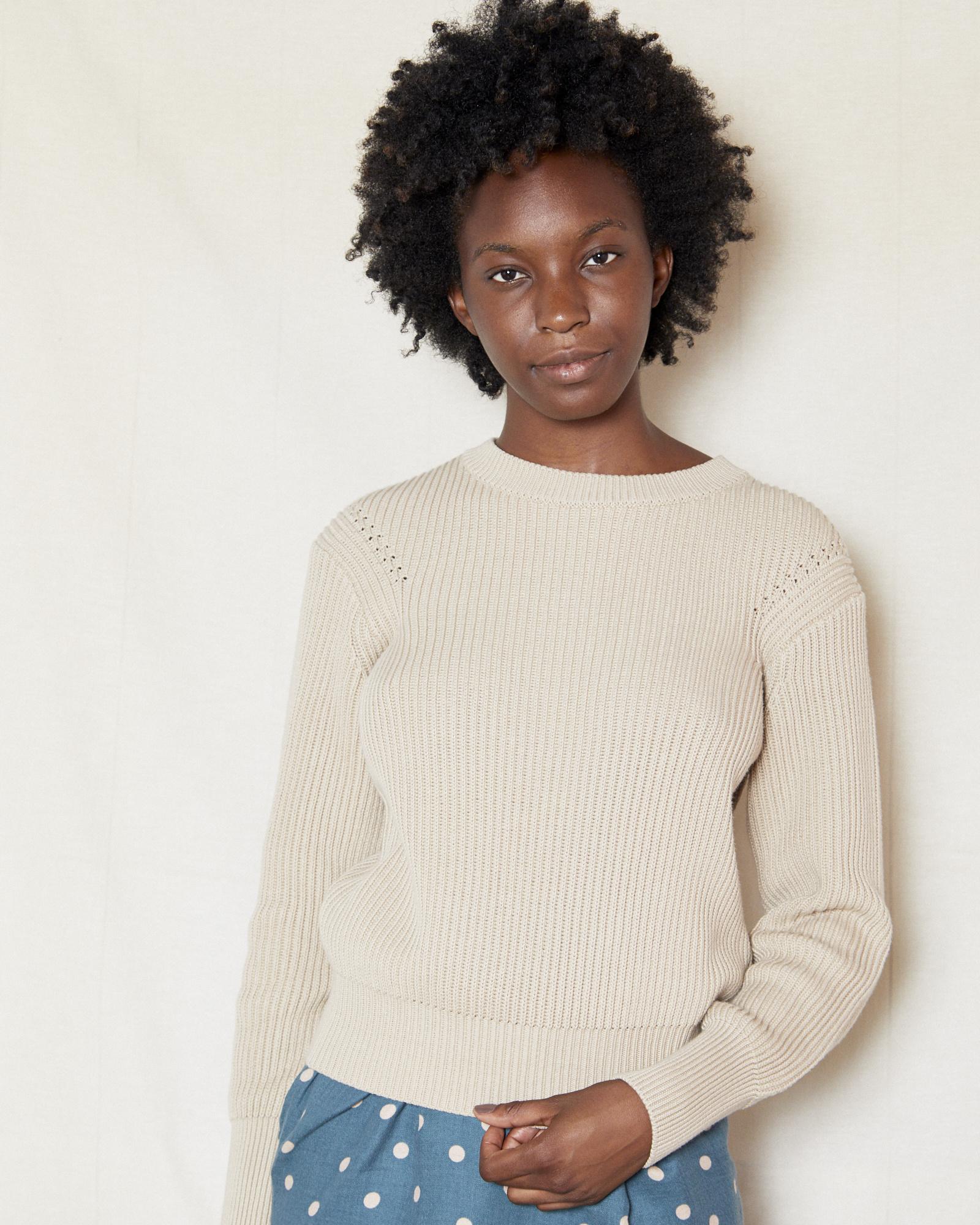 FAV Ribbed Khaki Sweater