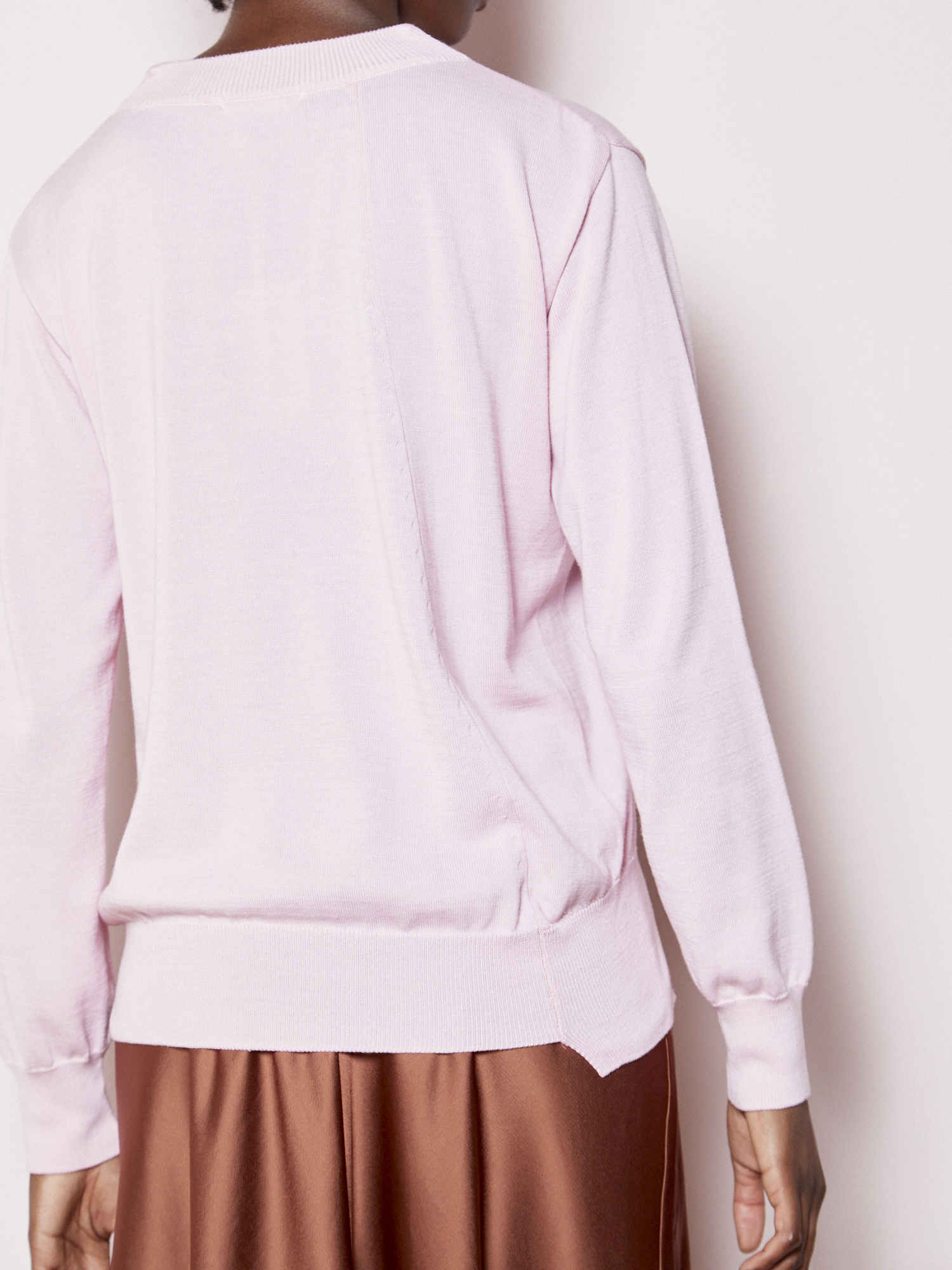 FAV Effortless Pink V-Neck Knit