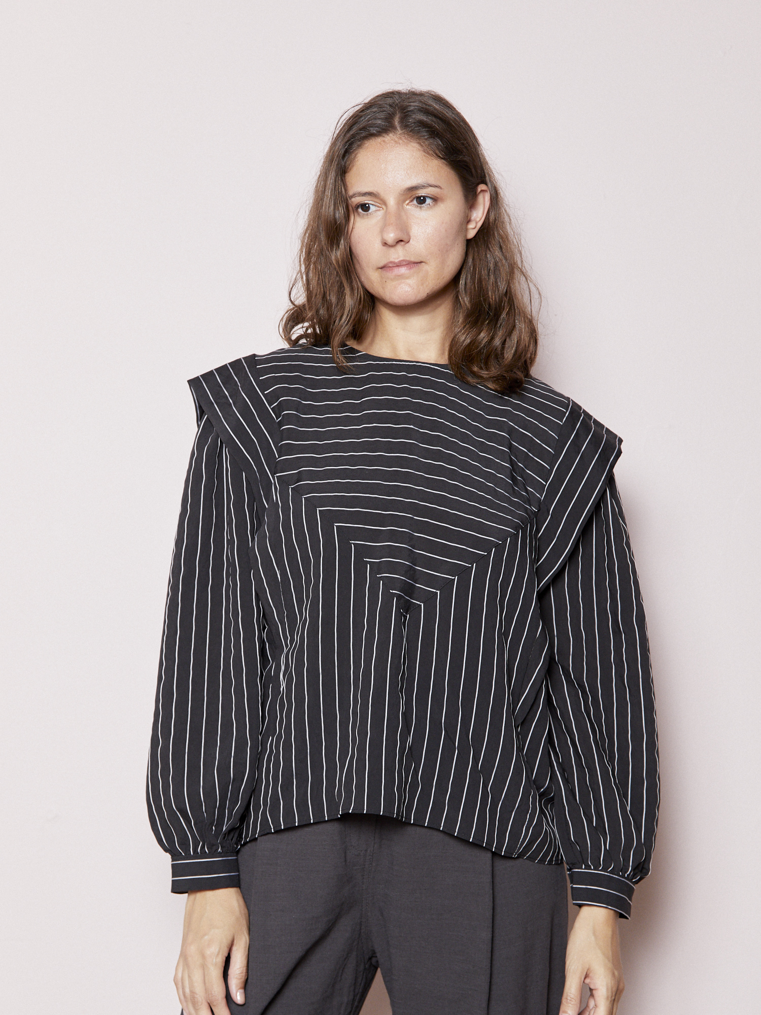 Love Yourself ( Tarrot) Striped Two Toned Blouse