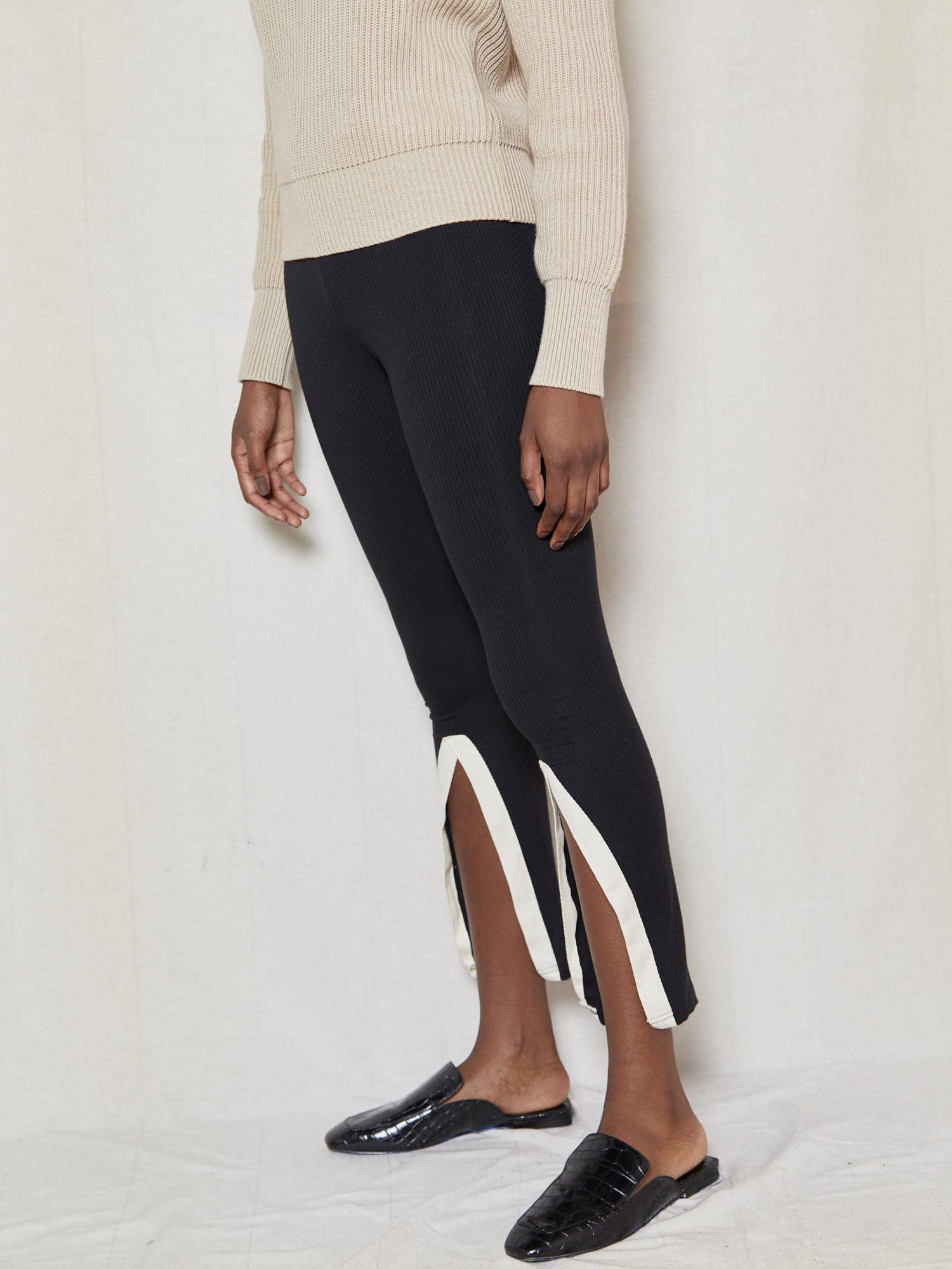 Tarrot Jersey Black Slit Pant