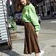 Erica Vegan Printed Leather Skirt