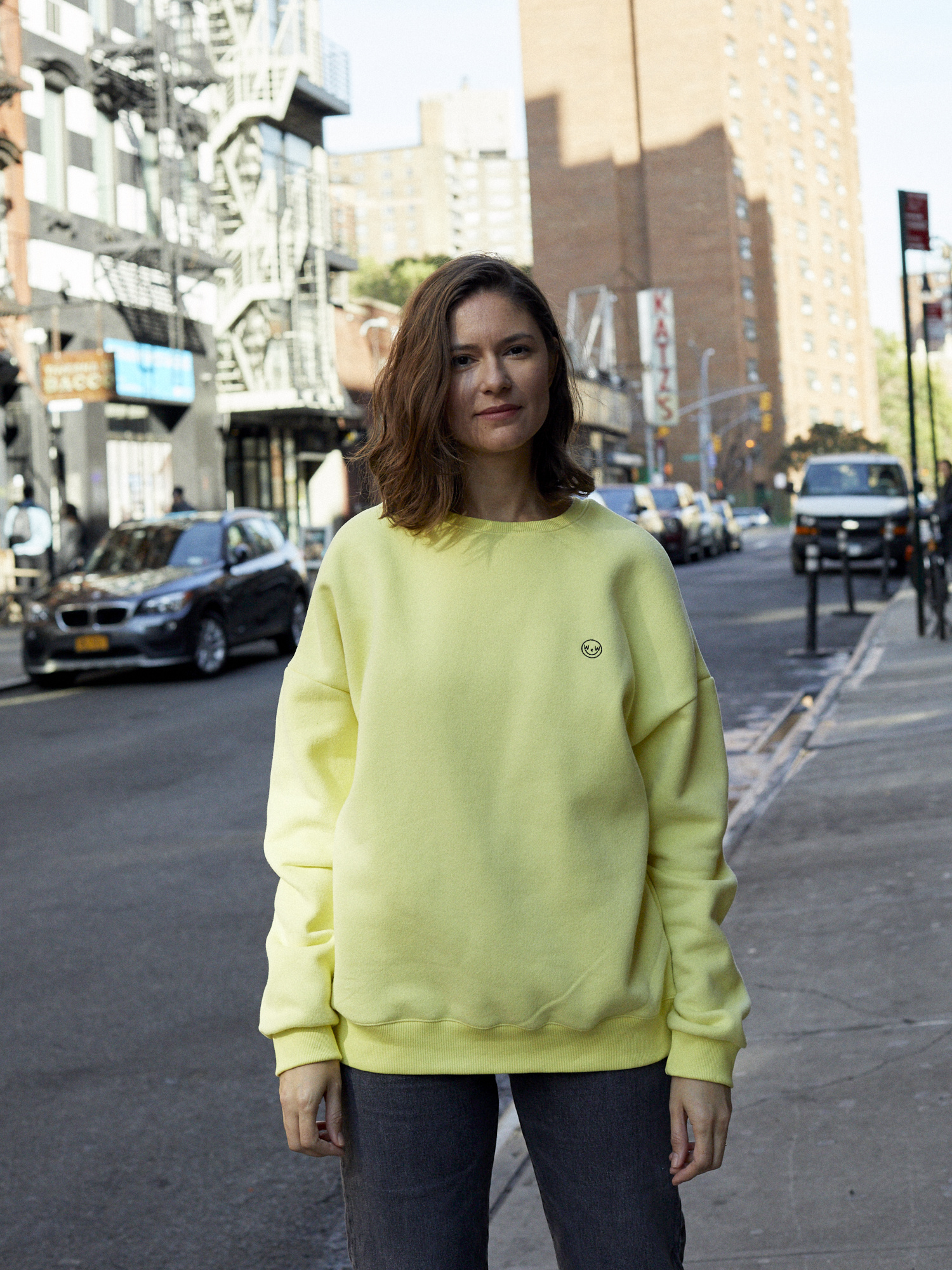 Where Wear Oversized Yellow Sweatshirt
