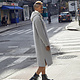 More More More Hooded Grey Sweatshirt Dress