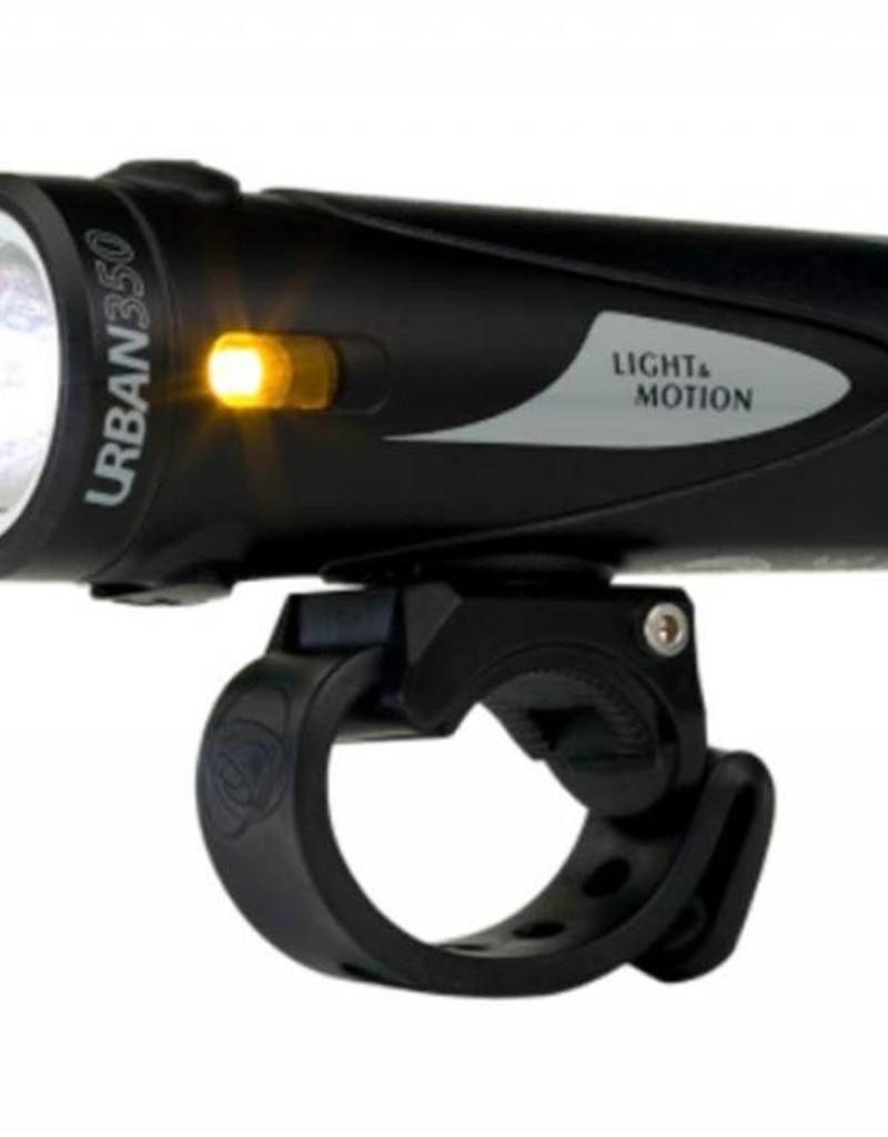 Light & Motion Light - Front - Light and Motion Urban 350 Obsidian Stout (Black/Black)