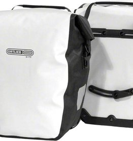 Ortlieb Pannier - Ortlieb Back-Roller City Rear Pannier: Pair~ White/Black
