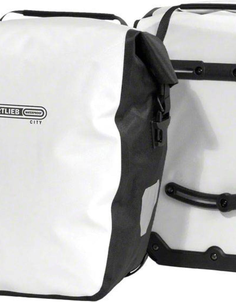 Ortlieb Pannier - Ortlieb Back-Roller City Rear Pannier: Pair~ White/Black