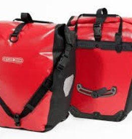 Ortlieb Pannier - Ortlieb Back-Roller City Rear Pannier: Pair~ Red/Black
